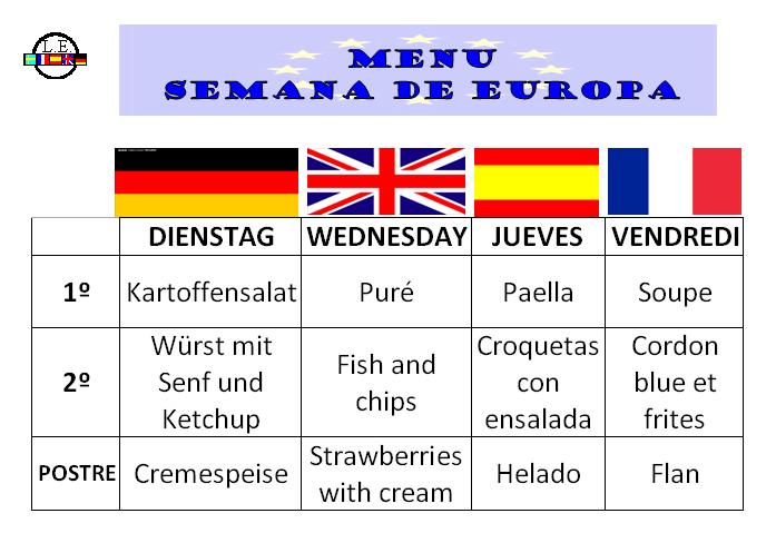 menu semana de europa 2014